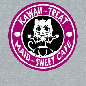 Kawaii Treat Maid Sweet Cafe T Shirt - Unisex Tri-Blend T-Shirt by American Apparel