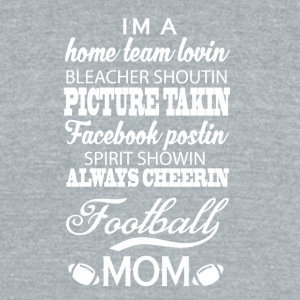 Proud Football Mom T Shirt - Unisex Tri-Blend T-Shirt by American Apparel