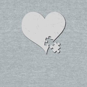 Autism Awareness Heart with Puzzle Piece - Unisex Tri-Blend T-Shirt by American Apparel