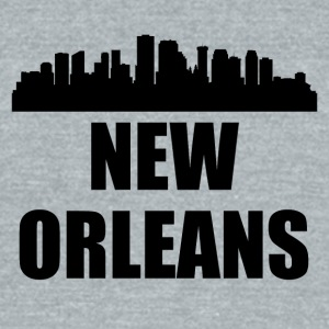 New Orleans LA Skyline - Unisex Tri-Blend T-Shirt by American Apparel