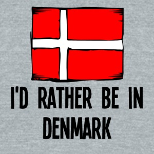 I'd Rather Be In Denmark - Unisex Tri-Blend T-Shirt by American Apparel