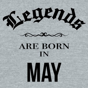 Birthday Legends are born in May - Unisex Tri-Blend T-Shirt by American Apparel
