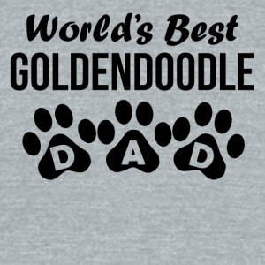 World's Best Goldendoodle Dad - Unisex Tri-Blend T-Shirt by American Apparel