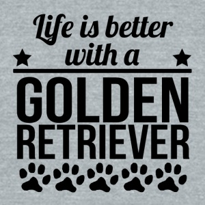 Life Is Better With A Golden Retriever - Unisex Tri-Blend T-Shirt by American Apparel