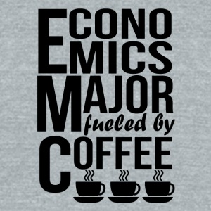 Economics Major Fueled By Coffee - Unisex Tri-Blend T-Shirt by American Apparel