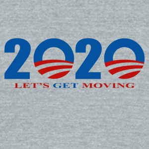 2020 Barack Obama Let's Get Moving - Unisex Tri-Blend T-Shirt by American Apparel