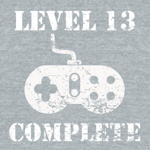 Level 13 Complete 13th Birthday - Unisex Tri-Blend T-Shirt by American Apparel