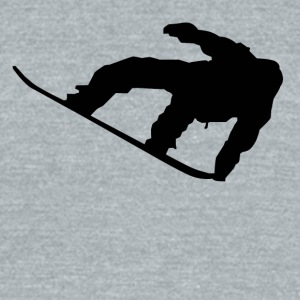 Snowboarder Silhouette Snowboarding - Unisex Tri-Blend T-Shirt by American Apparel