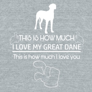 Great Dane - Unisex Tri-Blend T-Shirt by American Apparel