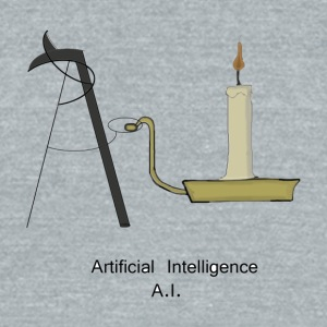 Artificial Intelligence Candle - Unisex Tri-Blend T-Shirt by American Apparel