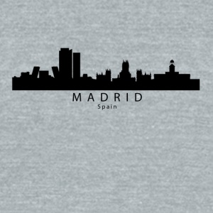Madrid Spain Skyline - Unisex Tri-Blend T-Shirt by American Apparel