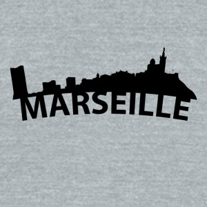 Arc Skyline Of Marseille France - Unisex Tri-Blend T-Shirt by American Apparel