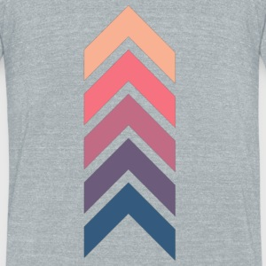 Multi color arrows - Unisex Tri-Blend T-Shirt by American Apparel