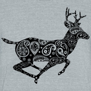 Deer abstract - Unisex Tri-Blend T-Shirt by American Apparel
