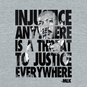 Martin Luther King - Unisex Tri-Blend T-Shirt by American Apparel