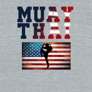 Muay_Thai_USA - Unisex Tri-Blend T-Shirt by American Apparel