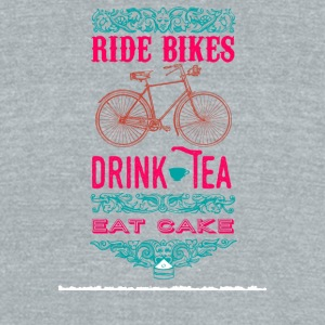 Ride bikes, drink tea, eat cake - Unisex Tri-Blend T-Shirt by American Apparel