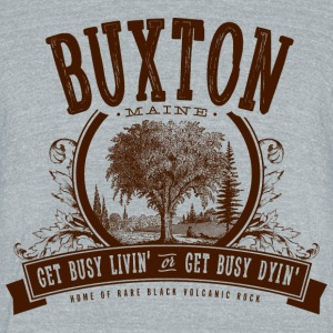 Buxton, Maine - Unisex Tri-Blend T-Shirt by American Apparel