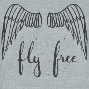 Fly Free - Unisex Tri-Blend T-Shirt by American Apparel