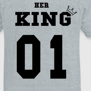 Black Her King - Unisex Tri-Blend T-Shirt by American Apparel