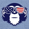 monkey bezel color american flag sun - Unisex Tri-Blend T-Shirt
