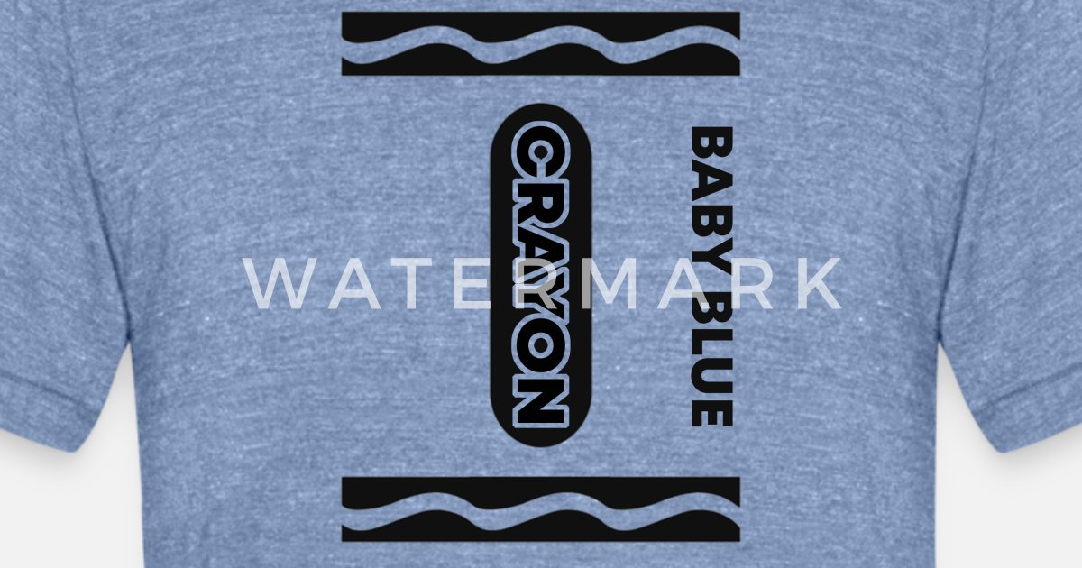 c5c26f54 Baby Blue Crayon Halloween Couple Friend Group Unisex Tri-Blend T-Shirt |  Spreadshirt
