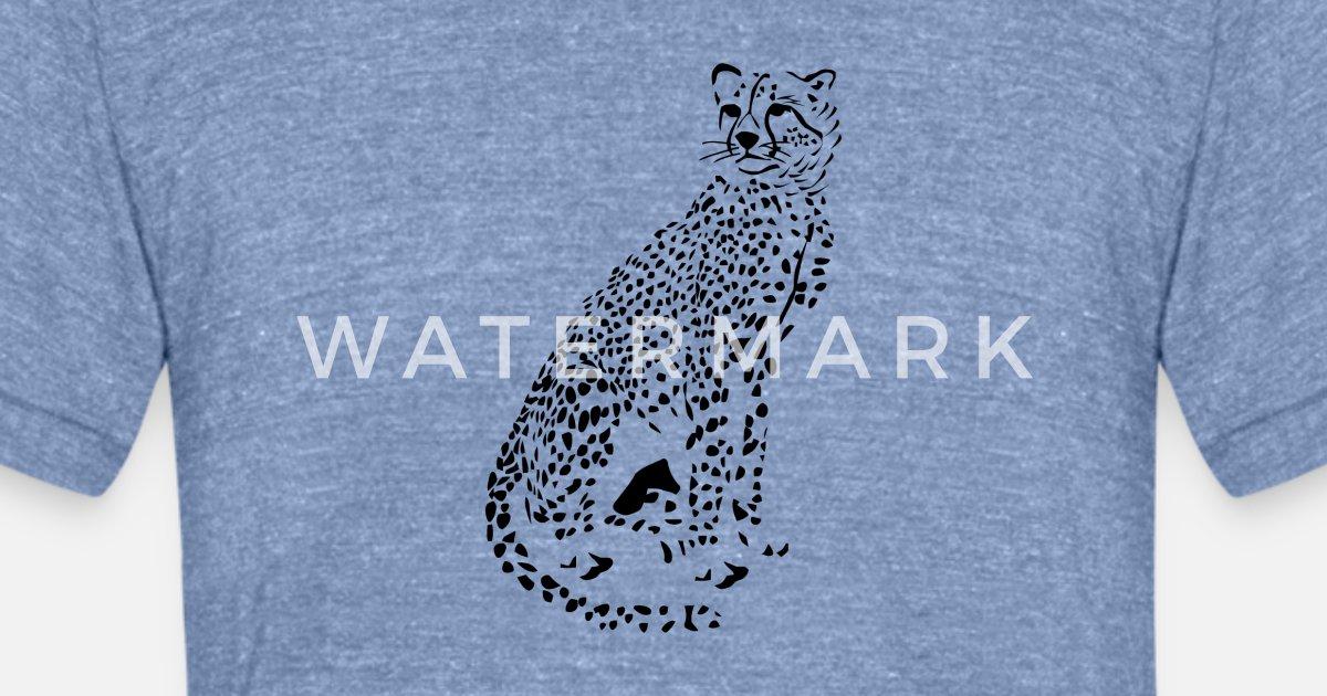 0fb1ccd3 Cheetah Unisex Tri-Blend T-Shirt   Spreadshirt