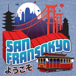 San Fransokyo - Unisex Tri-Blend T-Shirt by American Apparel