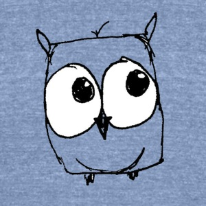 Charlie The Owl - Unisex Tri-Blend T-Shirt by American Apparel