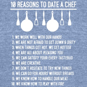 10 Reason To Date A Chef T Shirt - Unisex Tri-Blend T-Shirt by American Apparel