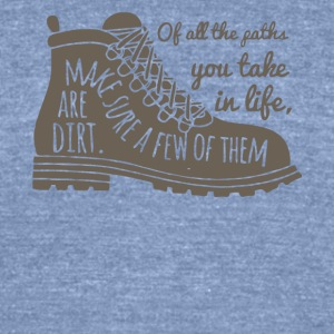 All The Paths You Take In Life Hiking Shoe T Shirt - Unisex Tri-Blend T-Shirt by American Apparel
