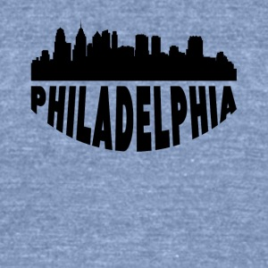 Philadelphia PA Cityscape Skyline - Unisex Tri-Blend T-Shirt by American Apparel