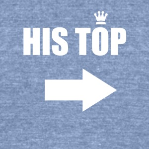 His Top - Unisex Tri-Blend T-Shirt by American Apparel
