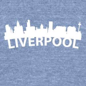 Arc Skyline Of Liverpool England - Unisex Tri-Blend T-Shirt by American Apparel