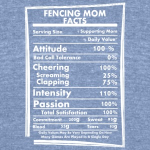 Fencing Mom Facts Daily Values May Be Vary - Unisex Tri-Blend T-Shirt by American Apparel