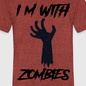 Halloween Zombie T-shirt - Unisex Tri-Blend T-Shirt by American Apparel