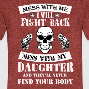 My daughter - Unisex Tri-Blend T-Shirt by American Apparel