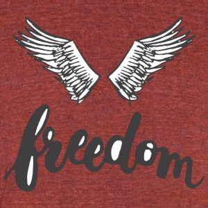 Freedom Wings - Unisex Tri-Blend T-Shirt by American Apparel