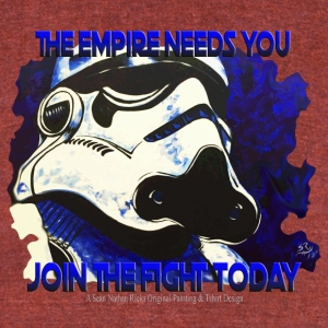 The Empire Needs You - Unisex Tri-Blend T-Shirt by American Apparel