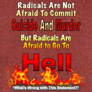 Radicals are Afraid Of Hell - Unisex Tri-Blend T-Shirt by American Apparel