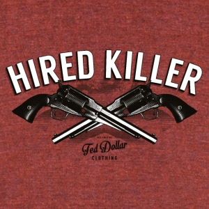 Hired Killer - Unisex Tri-Blend T-Shirt by American Apparel