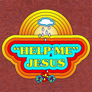 Help Me Jesus - Unisex Tri-Blend T-Shirt by American Apparel