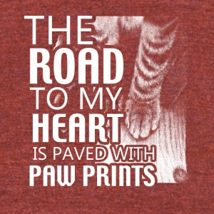 the road to my heart - Unisex Tri-Blend T-Shirt by American Apparel