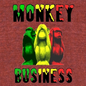 Monkey Business - Unisex Tri-Blend T-Shirt by American Apparel