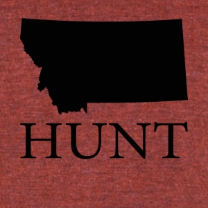 Hunt Montana - Unisex Tri-Blend T-Shirt by American Apparel