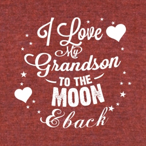 I love my grandson to the moon back - Unisex Tri-Blend T-Shirt by American Apparel