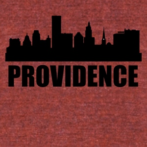 Providence RI Skyline - Unisex Tri-Blend T-Shirt by American Apparel