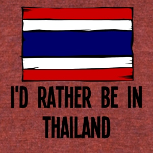 I'd Rather Be In Thailand - Unisex Tri-Blend T-Shirt by American Apparel