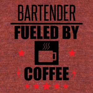 Bartender Fueled By Coffee - Unisex Tri-Blend T-Shirt by American Apparel