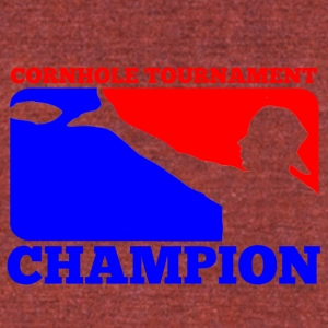 Cornhole Tournament Champion - Unisex Tri-Blend T-Shirt by American Apparel